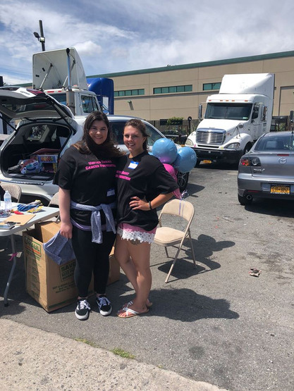 Julia and Emma at the United Breast Cancer Foundation Mattress Give Away Event