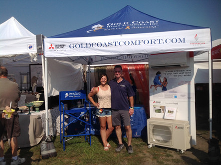 Emma and Tom at the 2018 Sayville Seafood Festival.