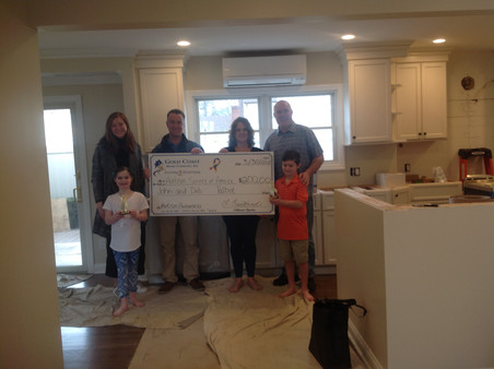 The wonderful Talbot family with their new ductless system and a $200 donation to the Nassau/Suffolk Autism Society of America.