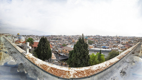 Photograph of the Old City from the Roof of the Austrian Hospice