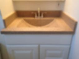 Concrete Integral Sink with Backsplash