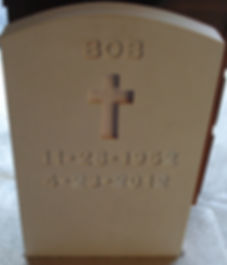 Simple Concrete Headstone