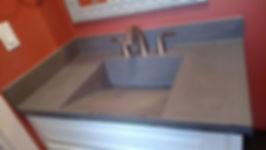 Concrete Ramp Sink with Backsplash