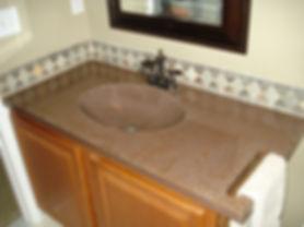 Vanity Top with Integral Sink