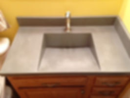 Ramp Sink With Slot Drain