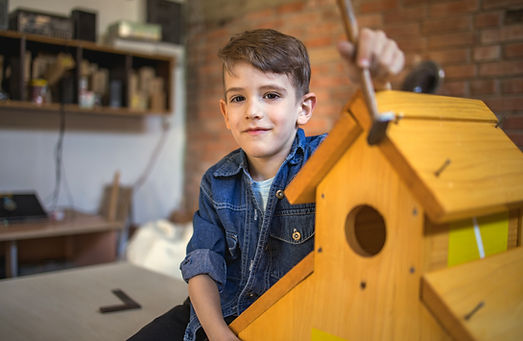 Young boy assembling a birdhouse.jpg