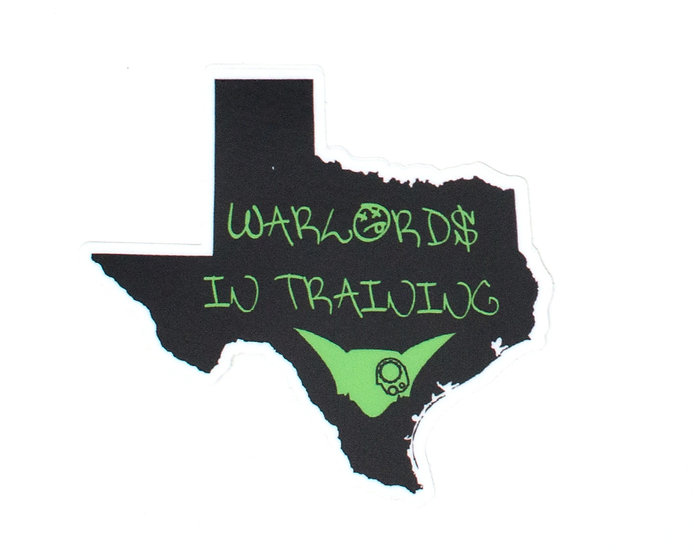 Warlords In Training Texas Sticker
