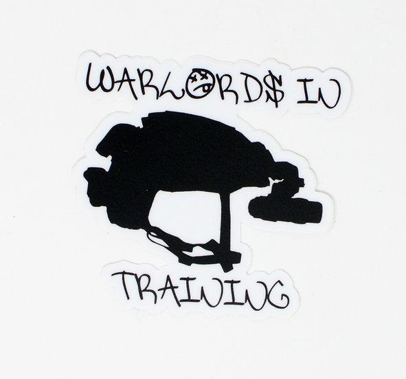 Warlords In Training Helmet Sticker