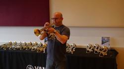 Testing Yamaha Trumpets