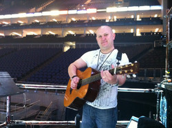 Messing about on Guitar at the O2