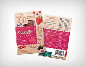 Preço de Atacado Chocolate Senses 71% Frutas Vermelhas - Chocolife