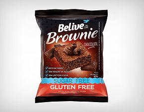 Preço de Atacado Brownie Sem Açúcar, Lactose e Glúten - Belive