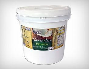 Preço de Atacado Balde Óleo de Coco Extra Virgem Orgânico 3,2l - Copra