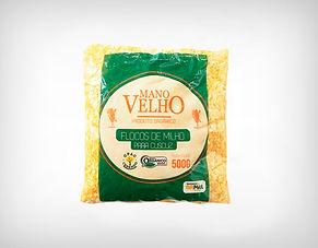 Fornecedor Flocos De Milho Orgânico Não Transgênico e Sem Glúten Para Cuscuz 500g - Mano Velho