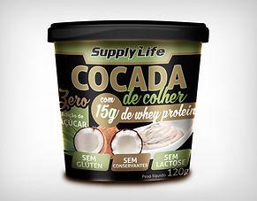 Preço Atacado Cocada Fitness com Whey Protein 120g - Supply Life