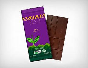 Fornecedor Chocolate Orgânico 85% Cacau 80g - Amma