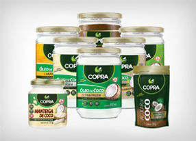Representação Produtos Naturais: Óleo de Coco: Virgem, Extra Virgem, Extra Virgem Orgâncio; Açucar de Coco; Farinha de Coco – Copra Coco
