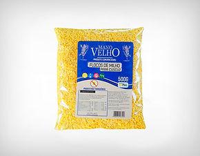 Fornecedor Flocos de Milho Para Cuscuz Sem Glúten Não Transgênico 500g - Mano Velho
