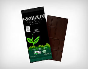 Fornecedor Chocolate Orgânico 100% Cacau 80g - Amma