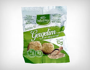 Preço de Atacado Cookie Biscoito Fit Gergelim com Whey Protein Isolado Hidrolisado - Whey Viv