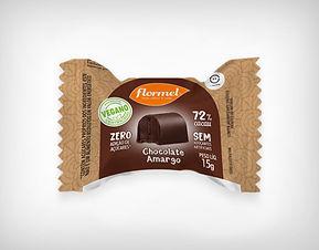 Distribuidor Bombom Chocolate Amargo 72% Cacau Vegno Zero Açúcar- Flormel