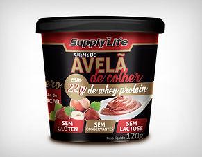 Preço Atacado Creme de Avelã Fitness com Whey Protein 120g - Supply Life