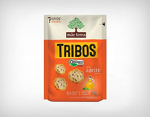 Distribuidor Biscoito Orgânico Tribos Azeite e Ervas 50g - Mãe Terra