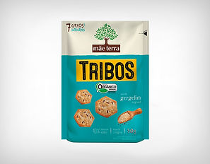 Distribuidor Biscoito Orgânico Tribos Original Gergelim 50g - Mãe Terra