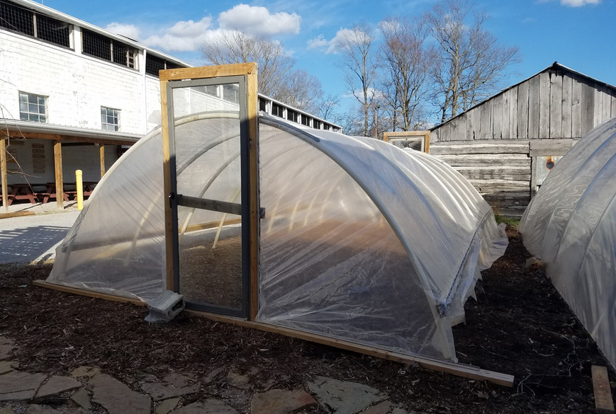 Completed Hoop House