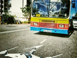 Tvb + Wild Bear Company + 城巴 + 拖車 + 單車追逐?? 新劇《衝線》航拍day 3 進行中…