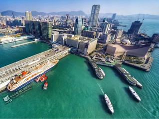 """中午為日本首次泊岸香港""""Nippon Maru""""郵輪航拍!"""