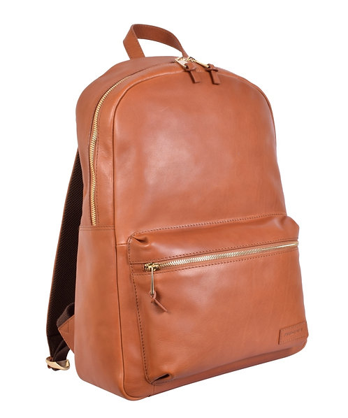 Classic Leather Backpack in Cognac
