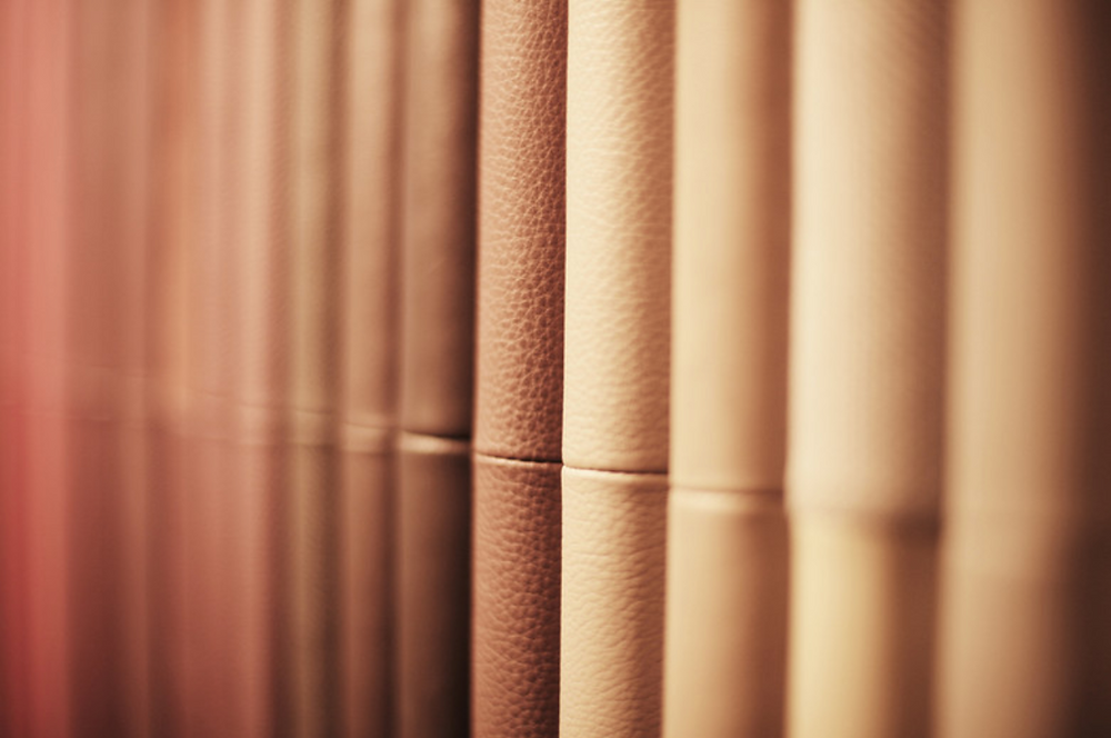 Various shades of PU leather