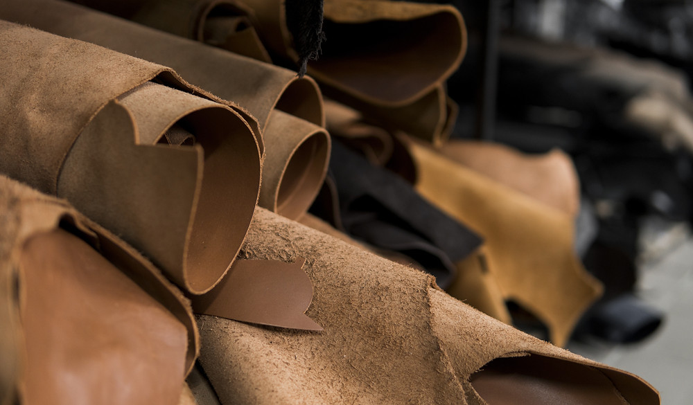Rolls of genuine leather