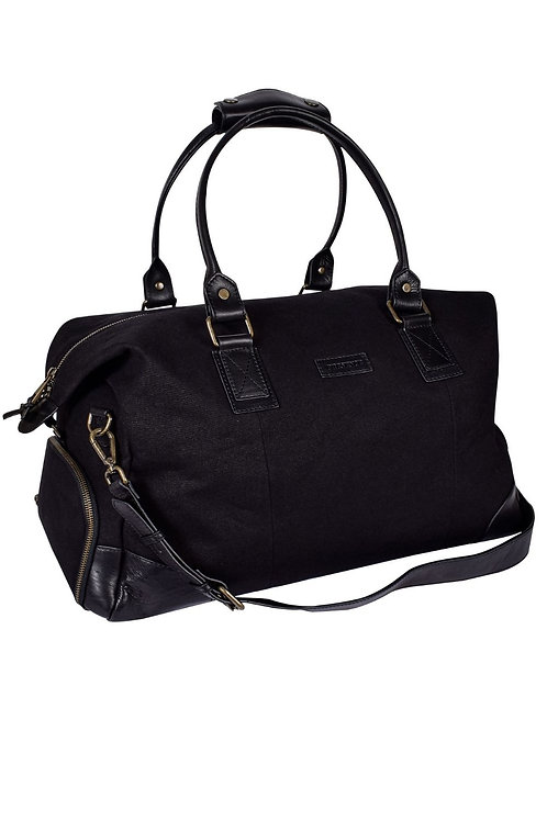 Classic Leather and Canvas Holdall