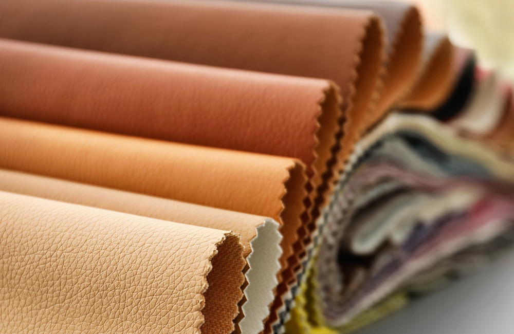 A selection of PU leather fabrics