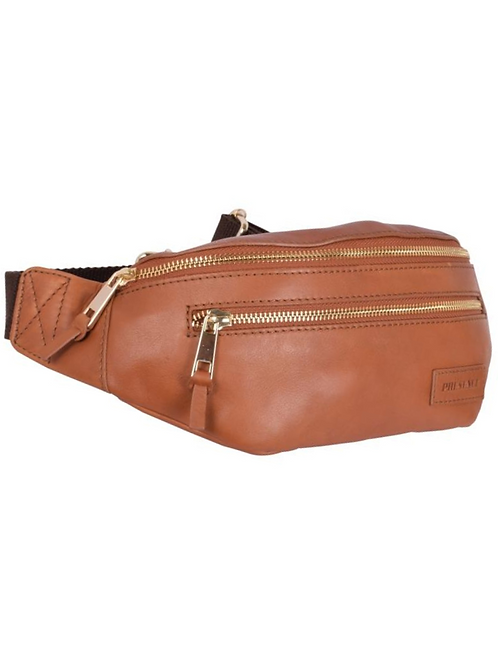Classic Leather Bum Bag in Cognac