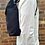 Thumbnail: Handcrafted Classic Full-Grain Leather & Organic Canvas Satchel Backpack