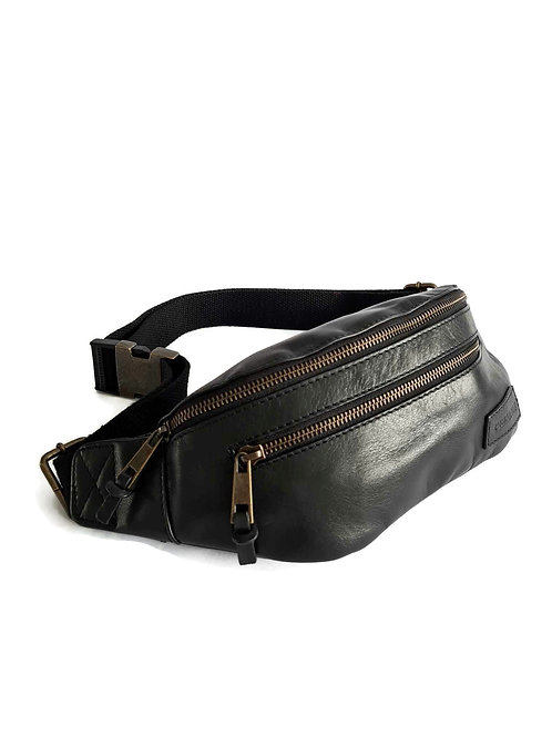Handcrafted Classic Full-Grain Leather Bum Bag