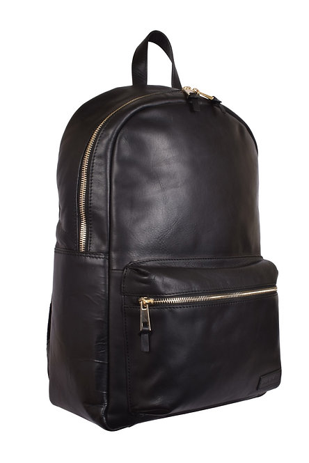 Classic Leather Backpack in Black