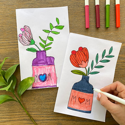 Mother's Day Card - Vase with Flowers -
