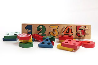wooden number and shape puzzle
