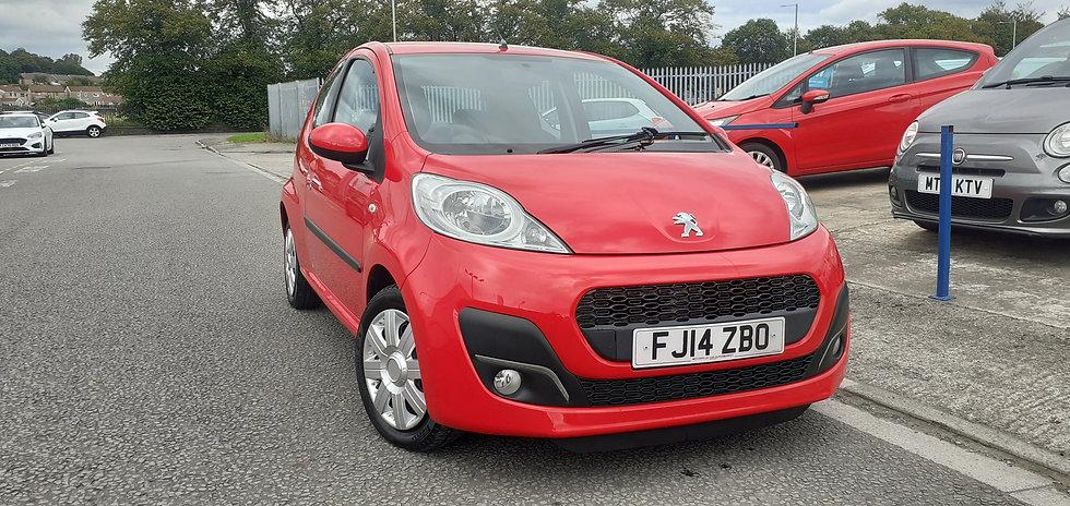 """2014 """"14"""" Peugeot 107 1.0 Active (AC) 3 door"""