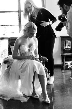 Backstage Wedding Hair