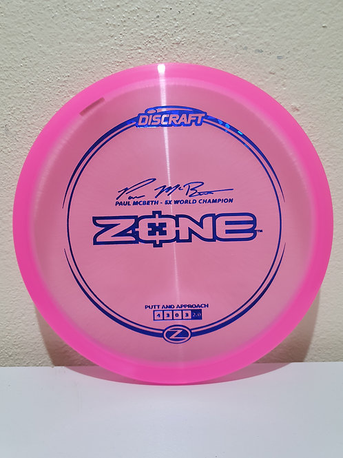 Z Zone - Paul Mcbeth Signature ~ 4, 3, 0, 3