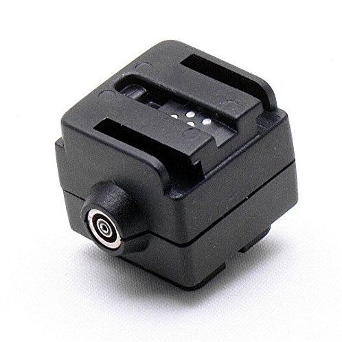 Convertidor de zapata Canon Nikon a Flash Sony salida PC Sync