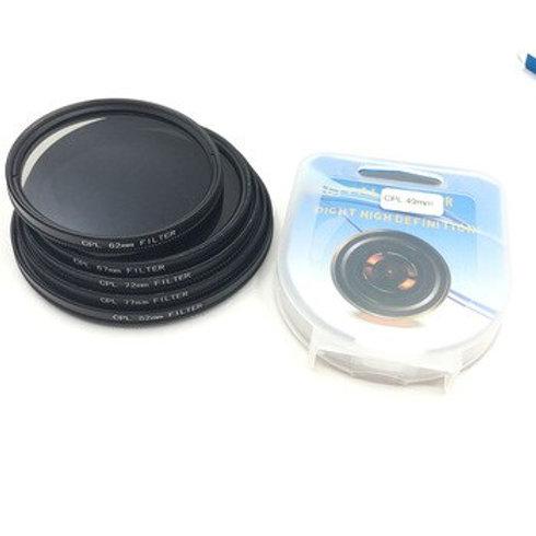 Filtro CPL polarizador 58 mm para cámaras de foto video