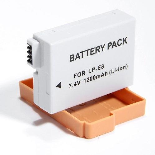 Batería genérica LP E8 para cámaras Canon