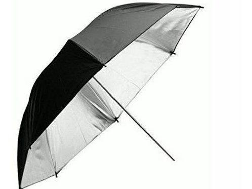Sombrilla plata negro 83cm
