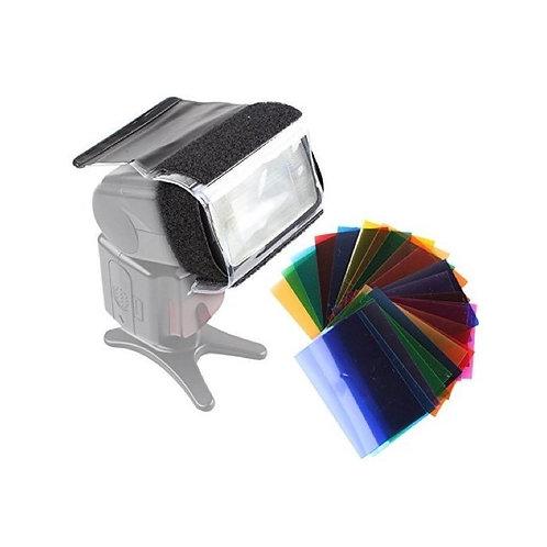 Set 12 geles de colores efecto flash speedlite